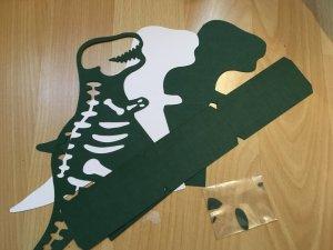 les pieces de la boite dinosaure
