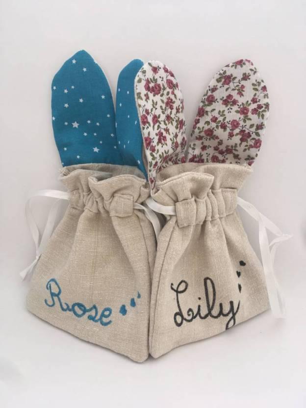sac lapin paques personnalisé