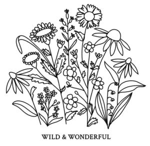 motif floral pour l'étiquette de la fête des mères