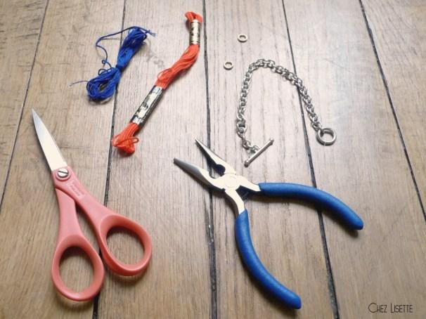 Chez Lisette DIY bracelet pompons