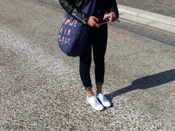 Chez Lisette DIY sac en tissu de plage porté2