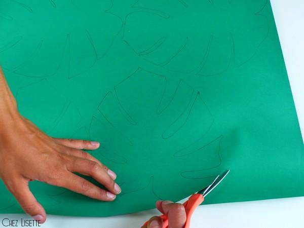 Chez Lisette DIY déco tropicale en papier découpage2