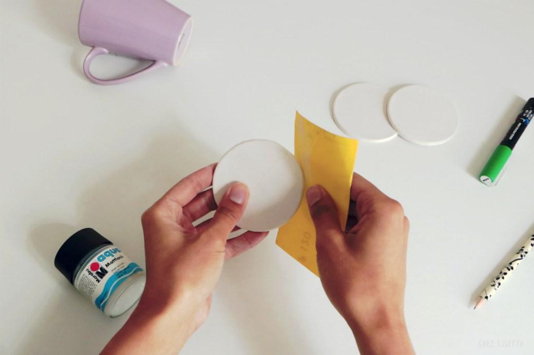 Chez Lisette DIY sous-verres tropicaux 5