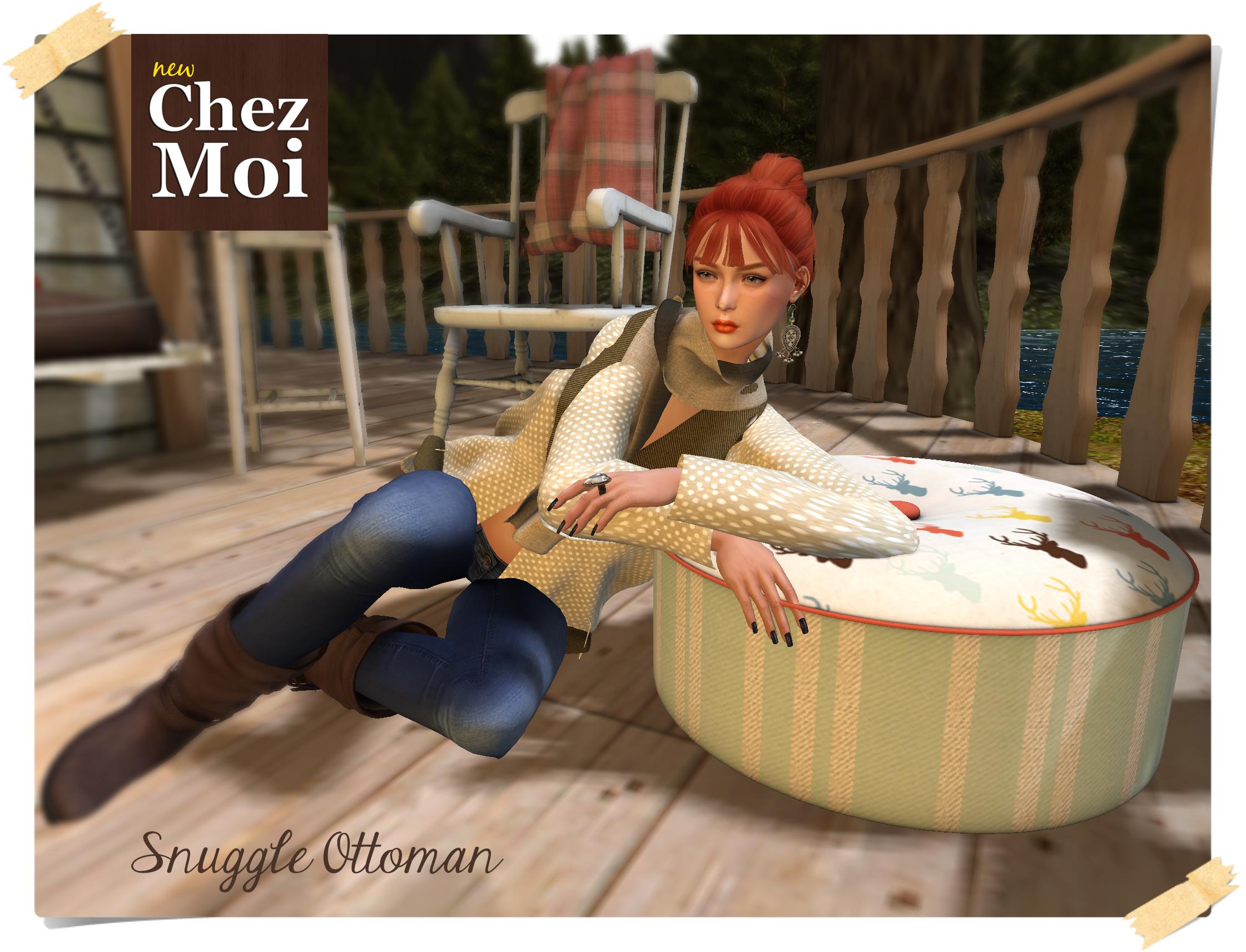 Snuggle ottoman H CHEZ MOI