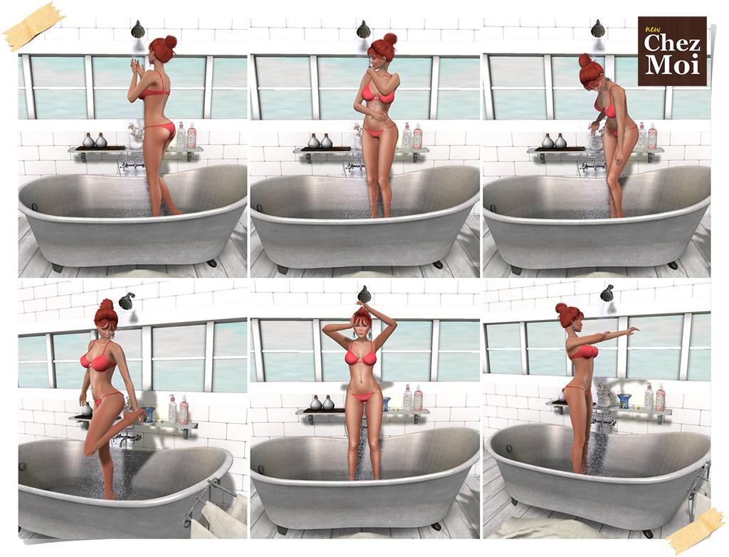 Supreme Bathroom Bathtub Single Poses Shower CHEZ MOI