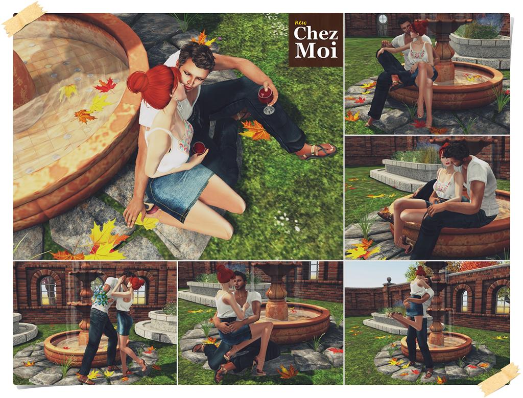Fontain Terracotta Couple Poses CHEZ MOI