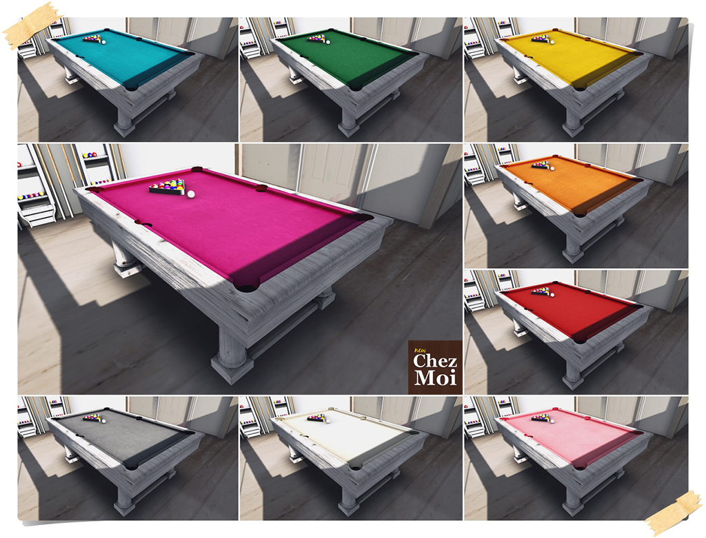 Billiard White Colors CHEZ MOI