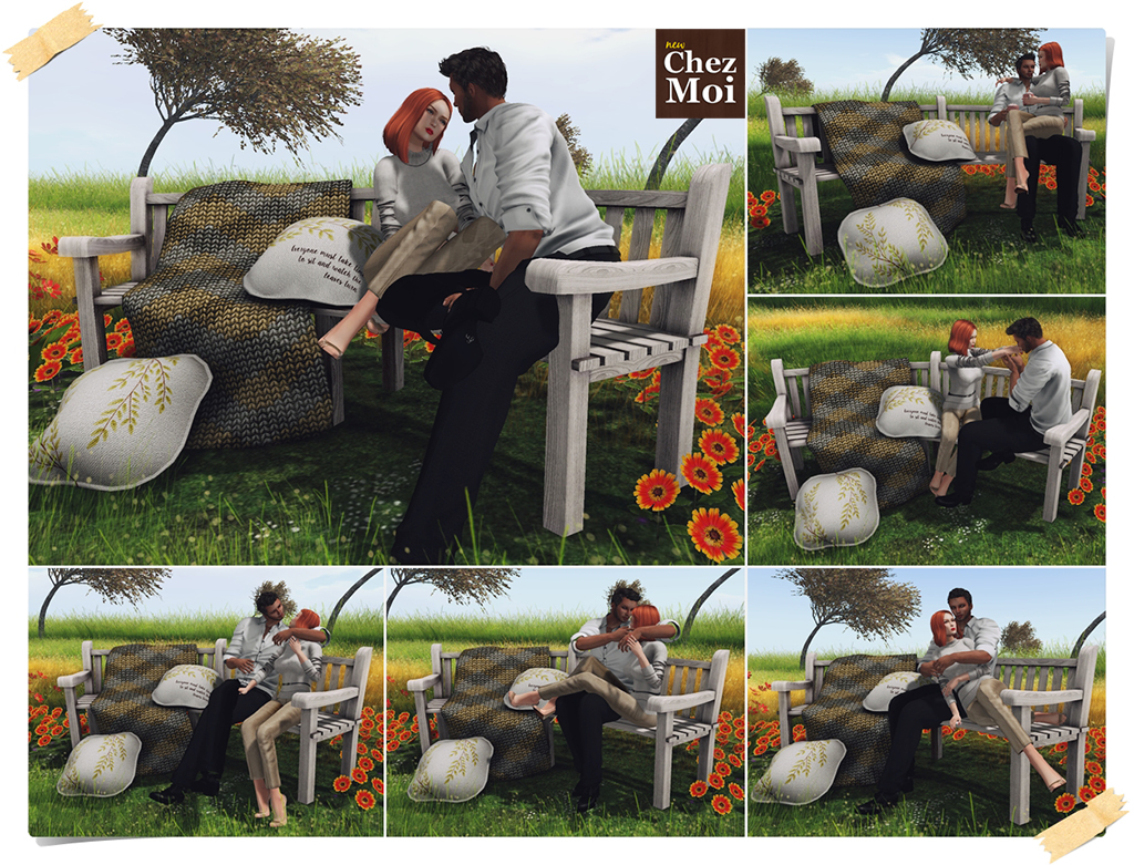 Rounded Bench Couple Poses CHEZ MOI