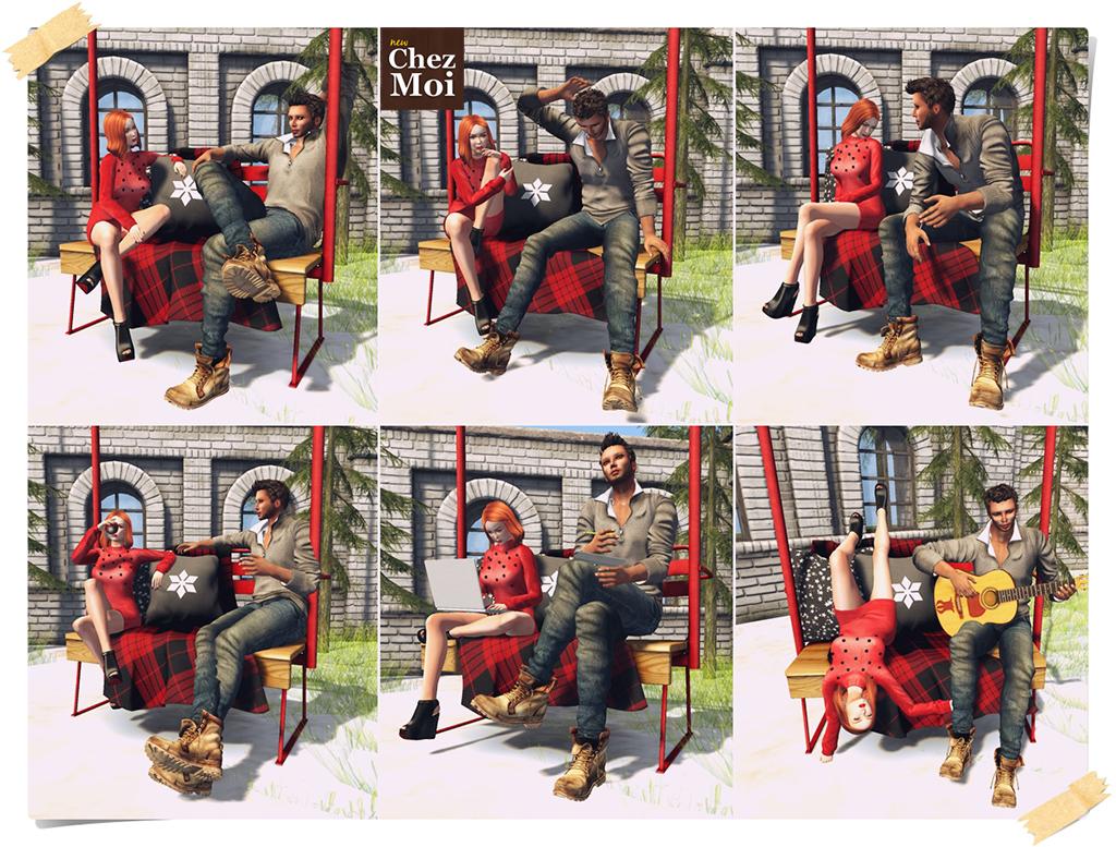Cozy Chair Lift Single Poses CHEZ MOI