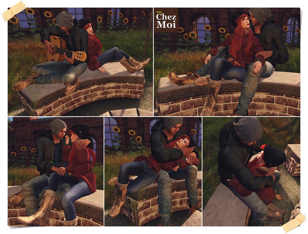 Backyard Firepit Couple Poses CHEZ MOI
