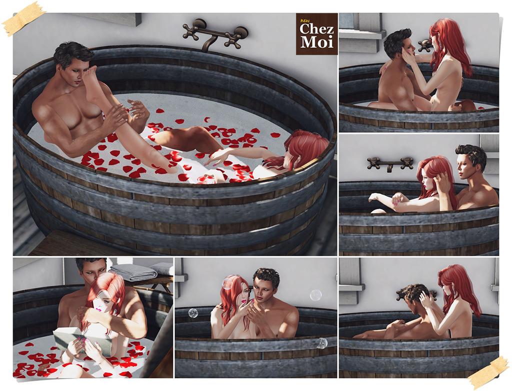 Rustic Bathroom Couple Poses CHEZ MOI