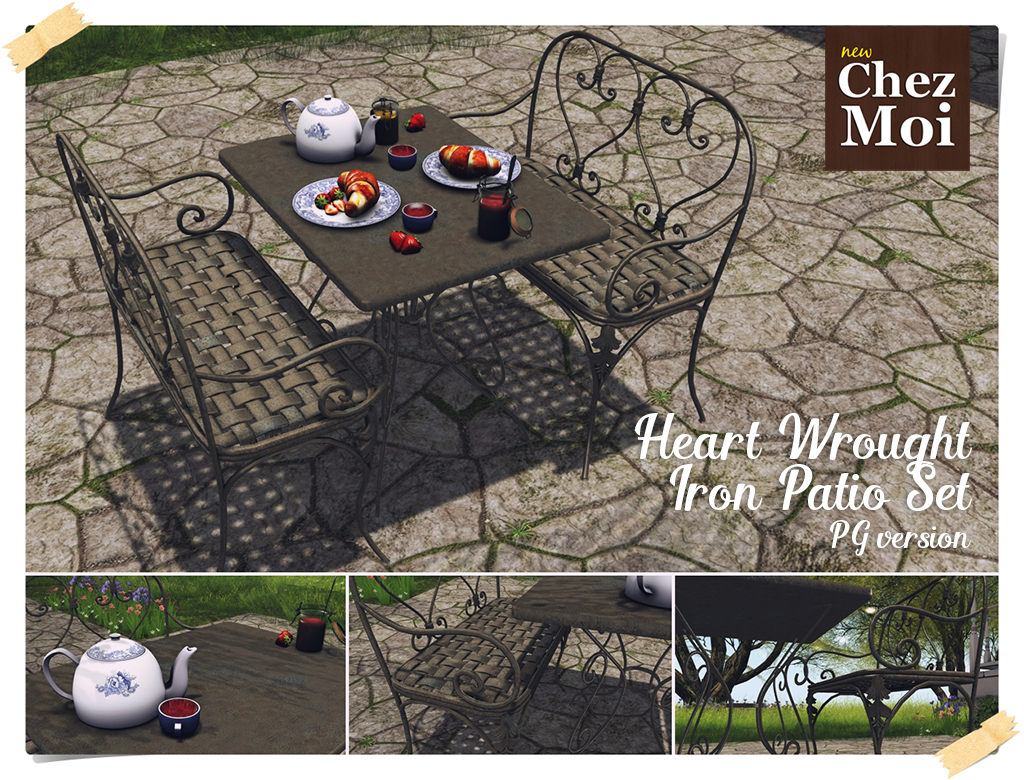 Heart Patio Set PG CHEZ MOI