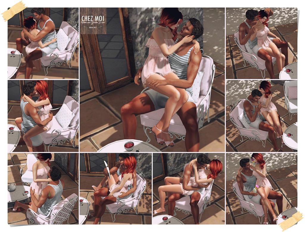 Polka Dots Couple poses CHEZ MOI