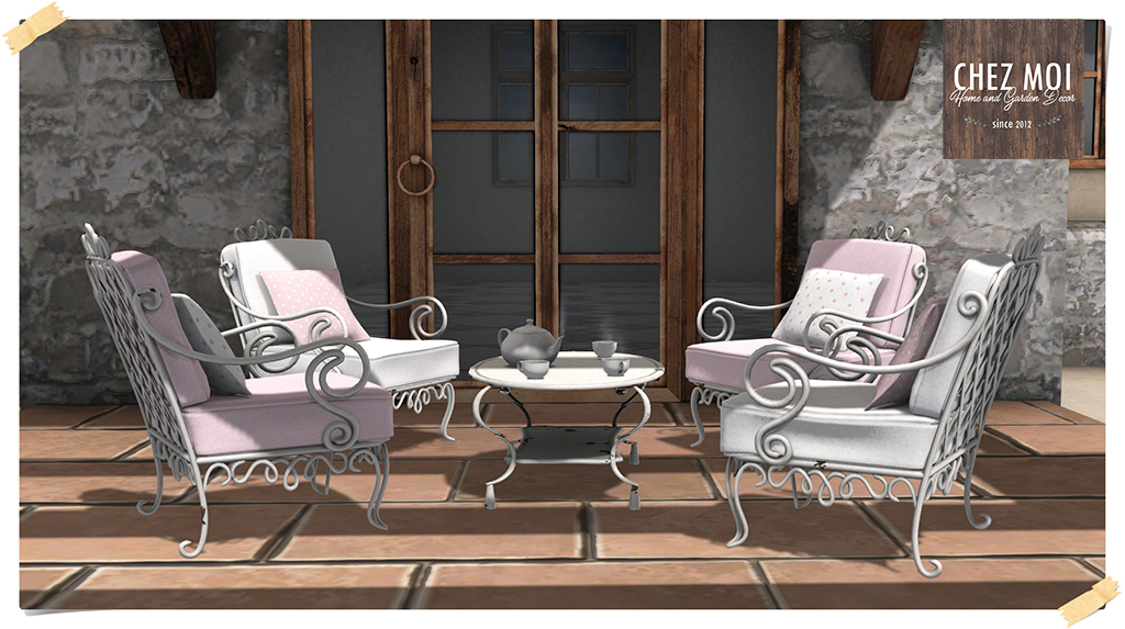 Polka Dots Patio Set L Pic CHEZ MOI