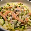 Salade de courgettes aux crevettes