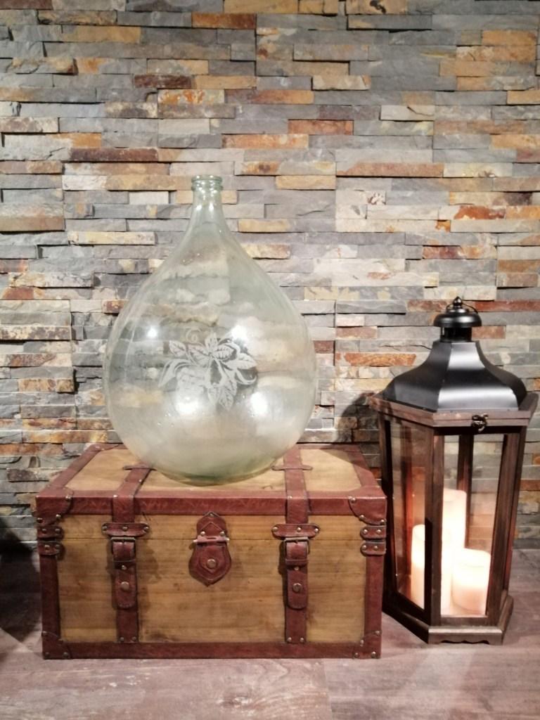 location dame jeanne gravée 30 litres verres blanc