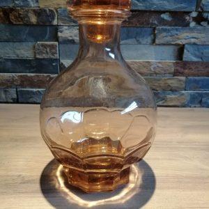 flacon type carafe à liqueur verre rose grand modèle