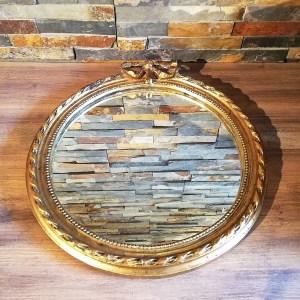 Miroir doré rond baroque mariage décoration pour événements Tours 37 indre et loire Loir et cher Blois 41