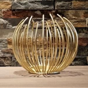 photophore boule doré grand modèle location centre de table Tours 37 indre et loire