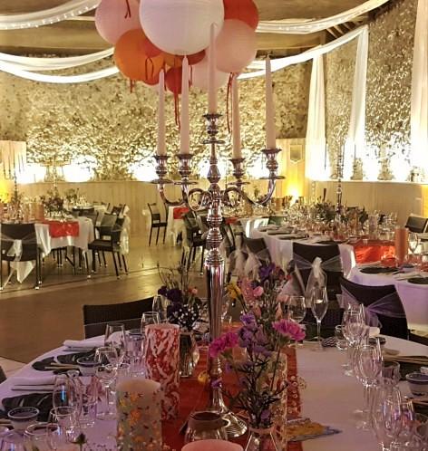 Location chandelier argent alu 80 cm Tours 37 indre et loire