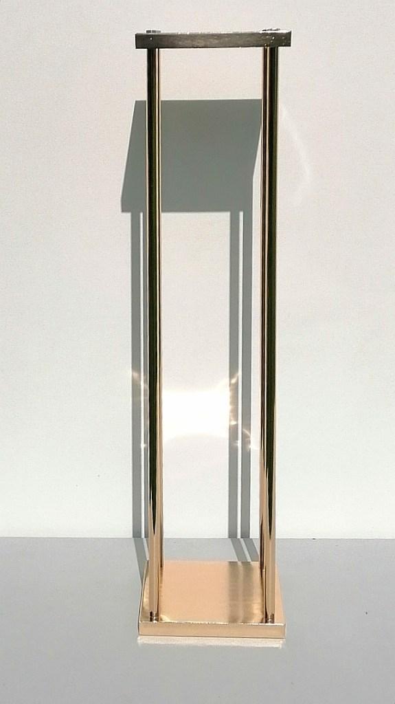 Location structure métallique dorée 80 cm pour centre de table composition florale 80cm décoration mariage e