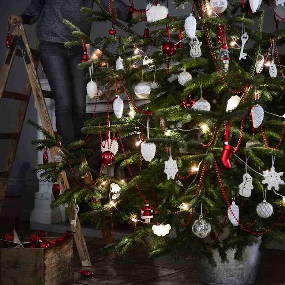 nouvelle collection noel ikea boules de sapin rouge et blanche - Ikea : la nouvelle collection Noël 2015