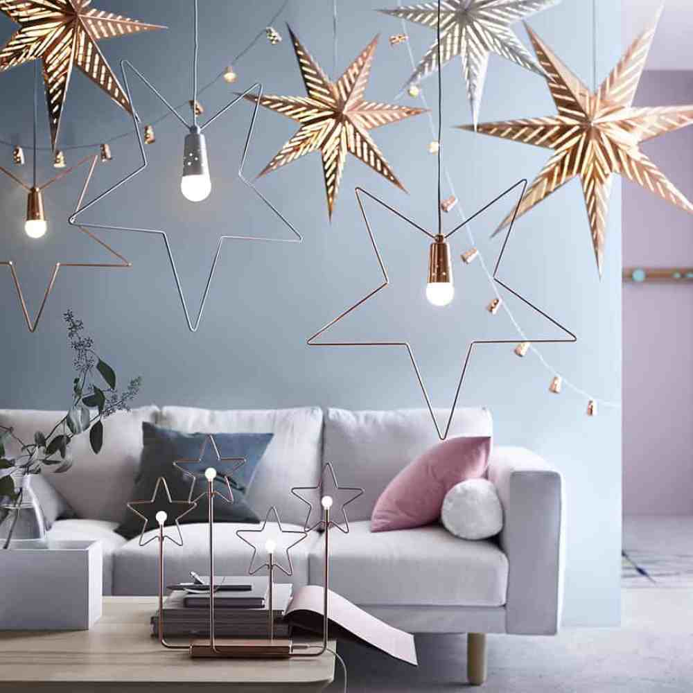 nouvelle collection noel ikea etoile de noel cuivree - Ikea : la nouvelle collection Noël 2015
