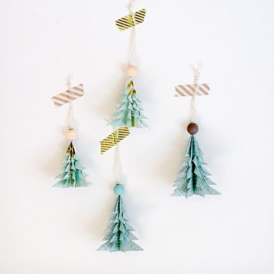 sapins origami - Noël : 11 DIY faciles pour une déco réussie