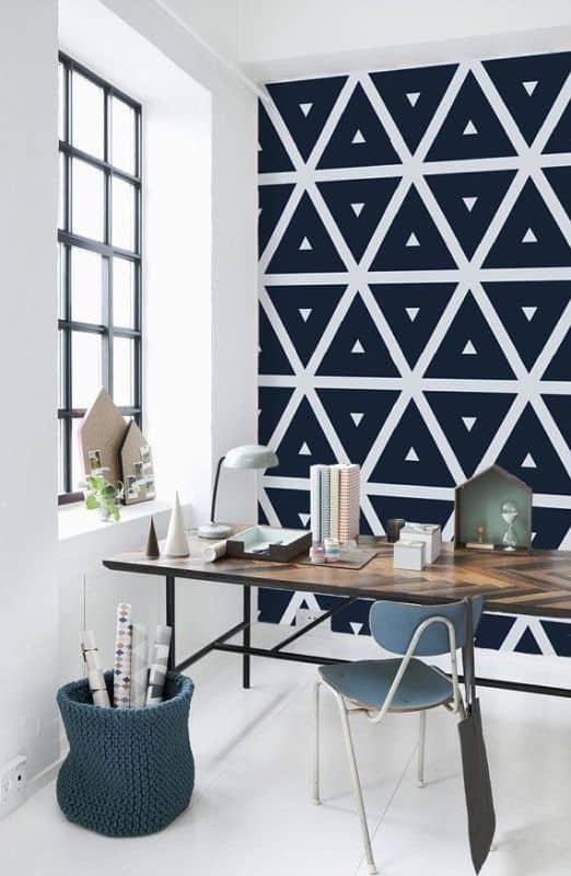 bureaux avec du papier peint à motif - 8 bureaux tendance pour une rentrée réussie