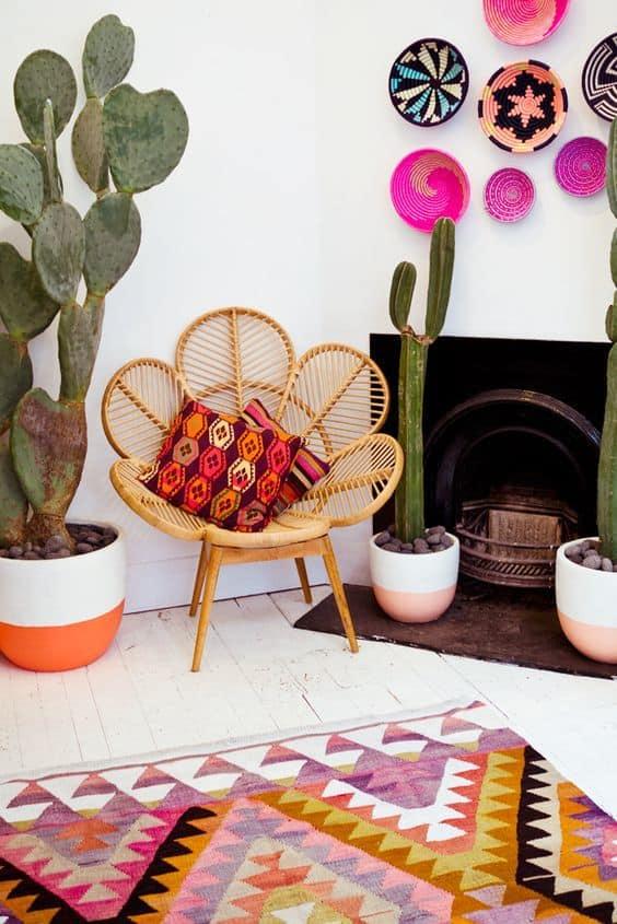 des cactus pour une deco boheme - Un intérieur bohème pour une impression de voyage