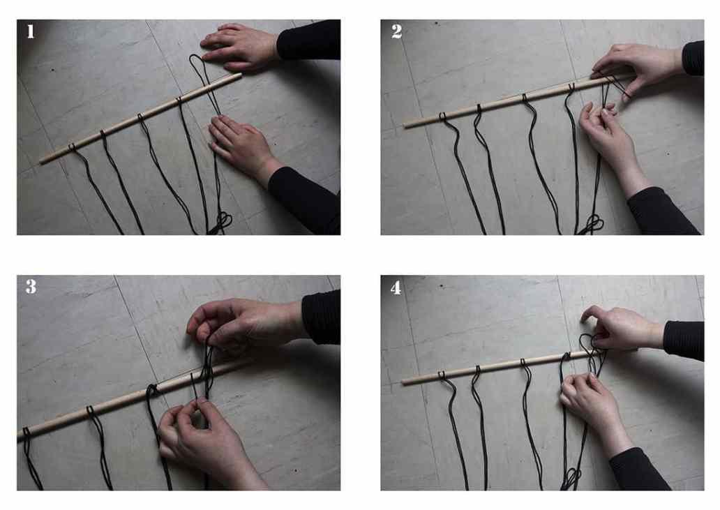 les etapes pour realiser une suspension en macrame - DIY : un macramé bohème très tendance