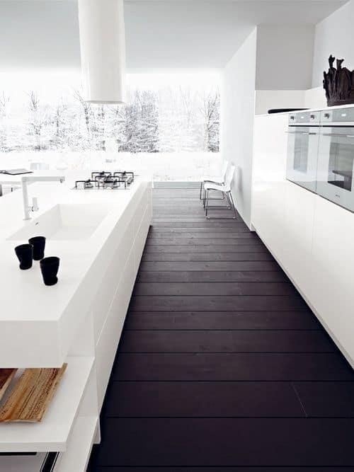parquet dans la cuisine - 8 façons de mettre en valeur l'ilot central de la cuisine