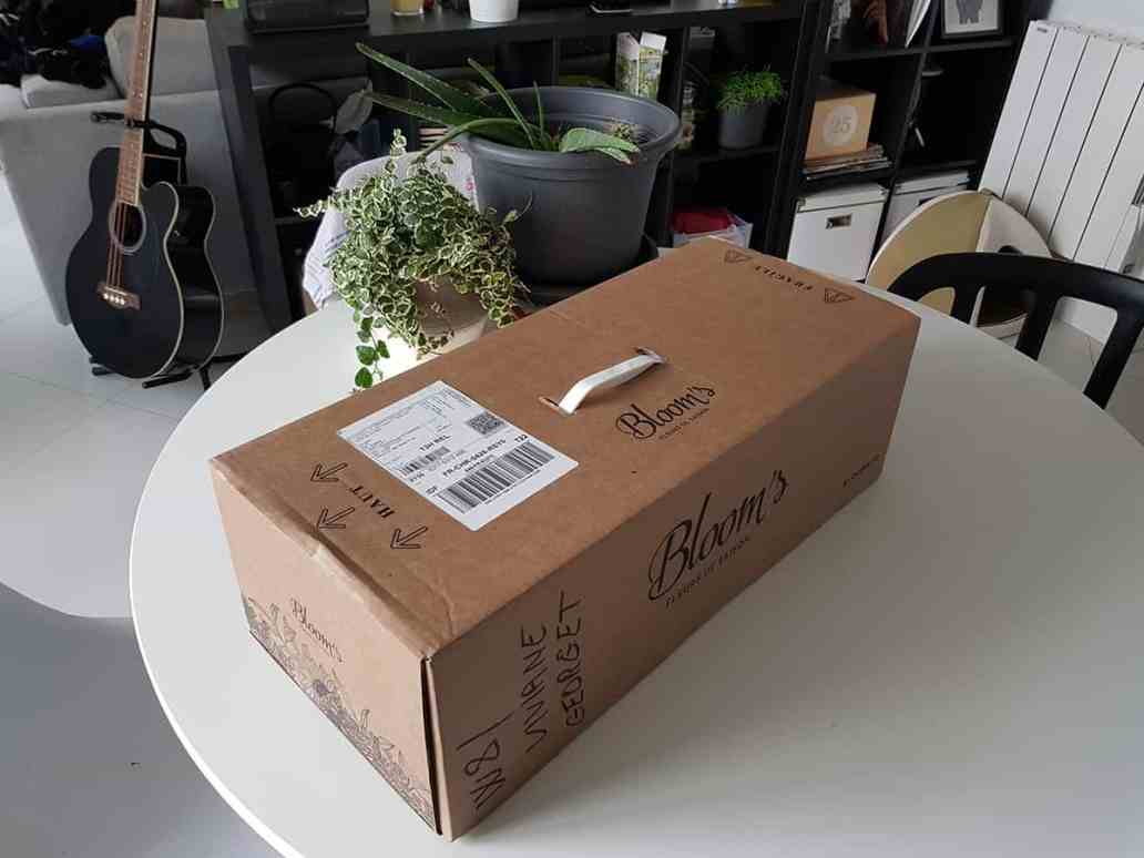 boite pour livraison de fleurs bloom s - Bloom's, une box de fleurs remplie de charme