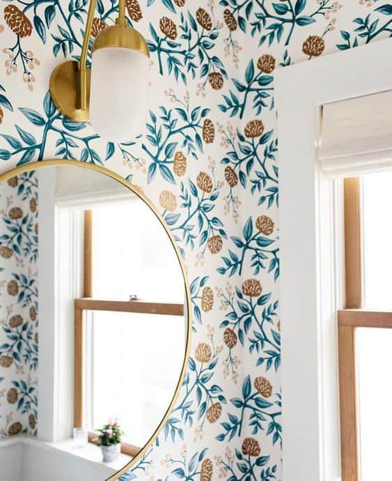 papier peint salle de bain  - 7 idées déco et aménagement de la salle de bain