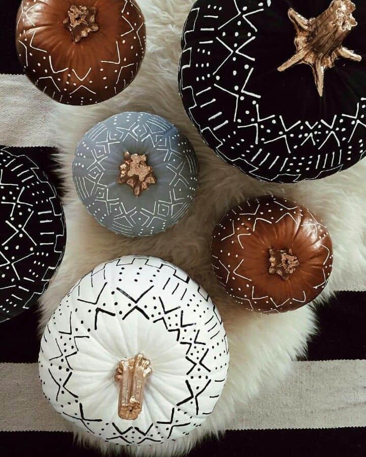 citrouille halloween boheme  - 15 DIY originaux pour décorer la citrouille d'Halloween