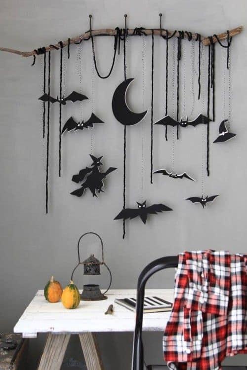 idees diy halloween guirlande de papier - 7 idées DIY pas chères pour Halloween