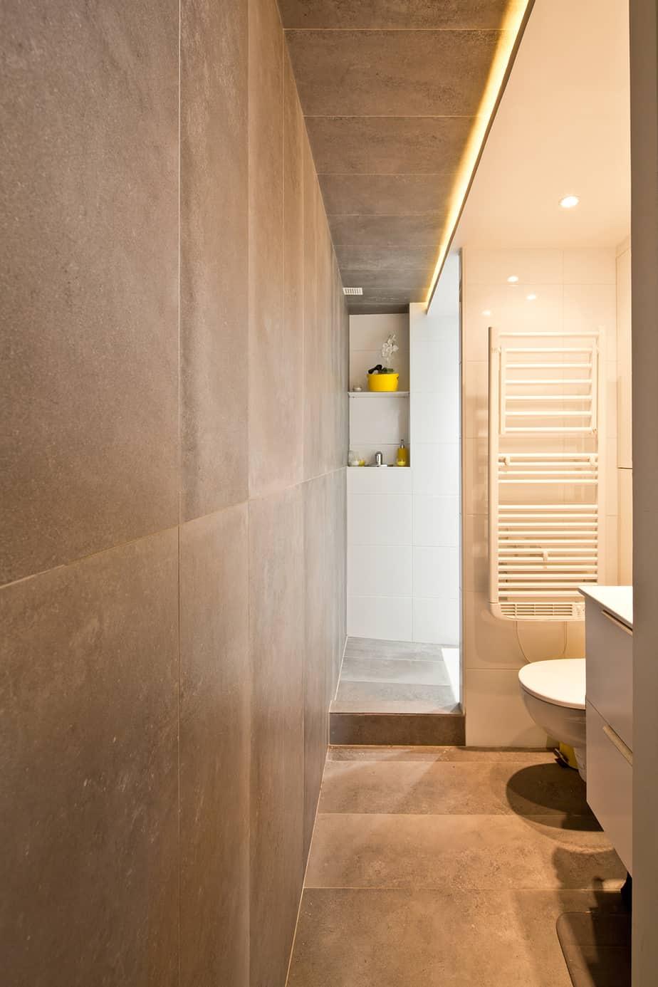 Salle de bain archibien © Jonathan Letoublon Architecte Antonin Ziegler via Archibien 15 - Visite d'un appartement Archibien à Paris