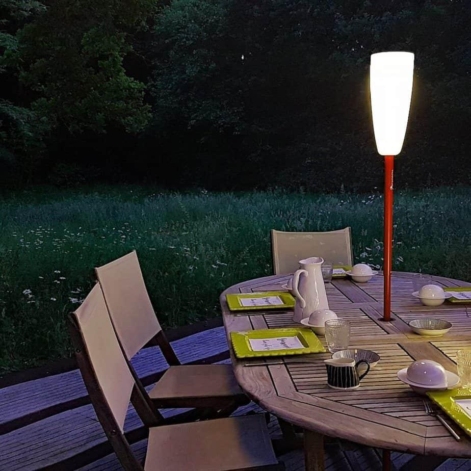 lampadaire paranocta table jardin - Paranocta, une marque de luminaire nomade