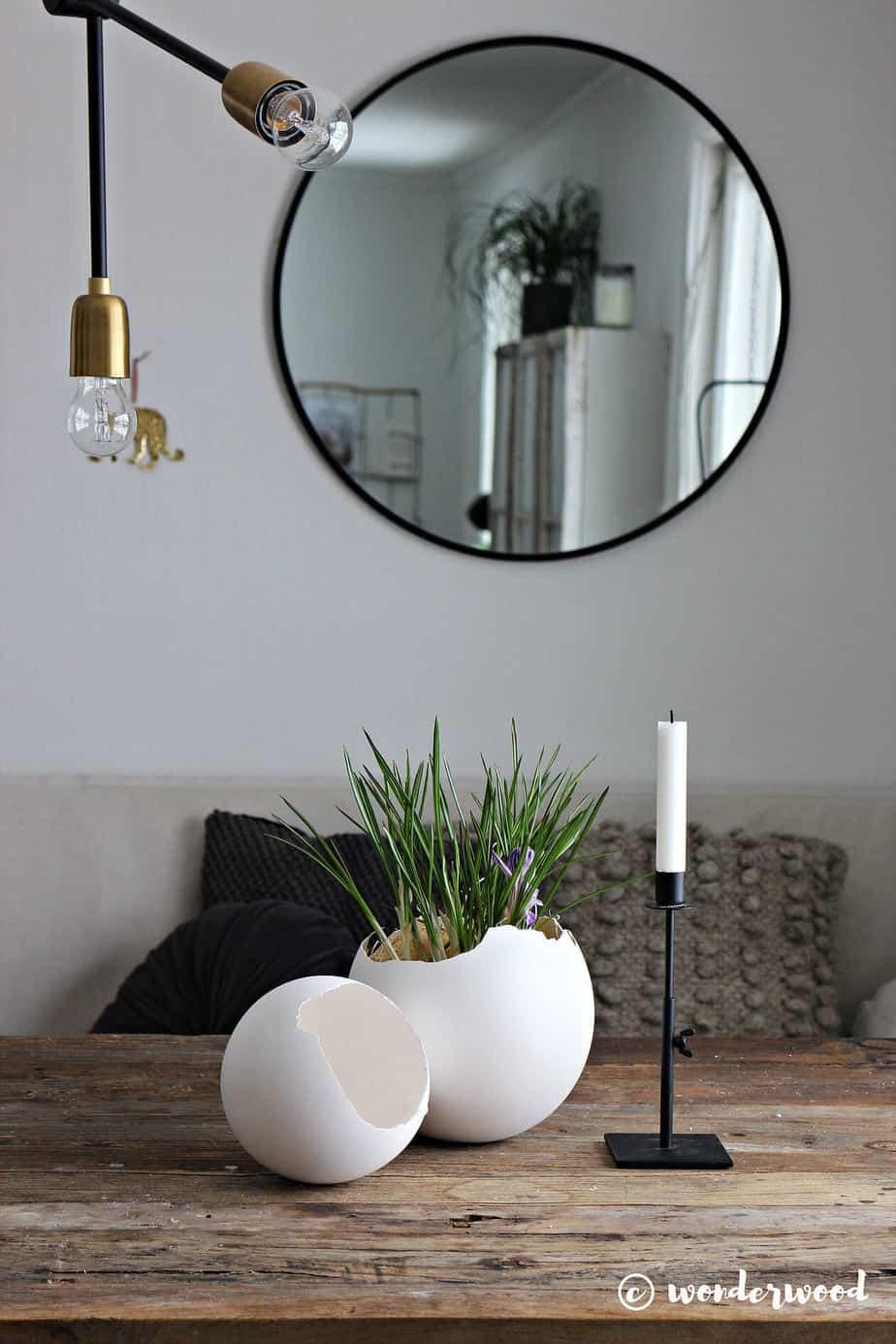 diy pour le salon vase deco oeuf plante - Une sélection de DIY pour le salon, pimper sa déco
