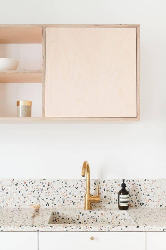 terrazzo plan de travail cuisine  - La tendance terrazzo s'invite dans toute la maison