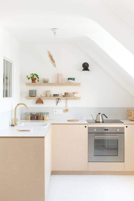 Une cuisine en L dans une pièce étroite  - Aménager une cuisine dans une pièce étroite