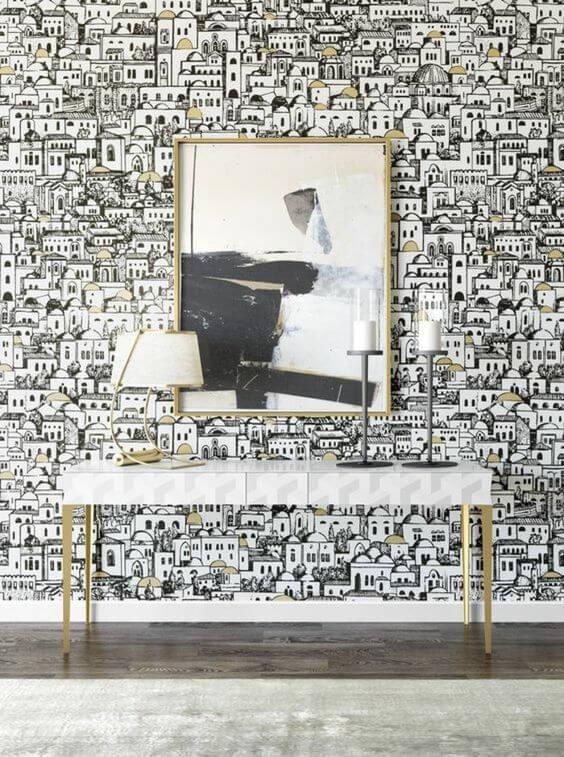 papier peint panoramique inspiré de la ville  - 10 styles de papier peint panoramique à couper le souffle