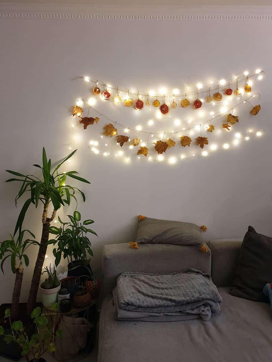 decoration murale noel fabriquée à la main diy - Comment adopter la guirlande de Noël zéro déchet ?