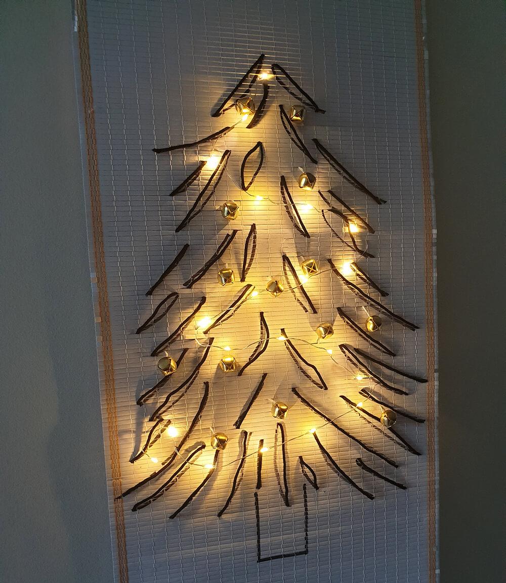 diy sapin zéro déchet en tissage - DIY Noël : comment fabriquer un sapin zéro déchet ?