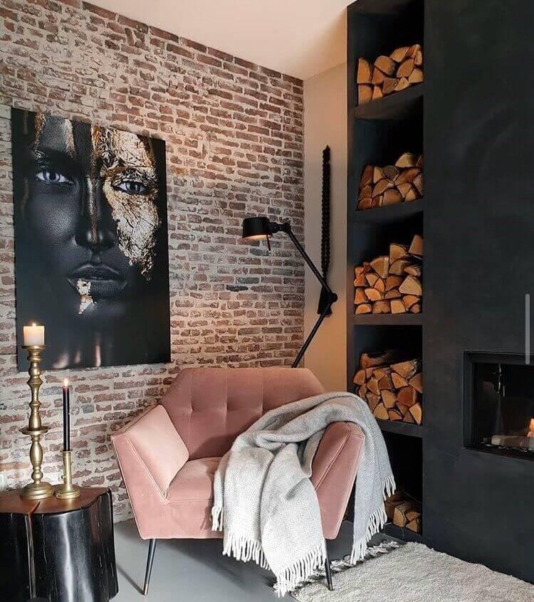 décorer le mur du salon ou séjour avec des briques  - Comment décorer le mur du salon ?