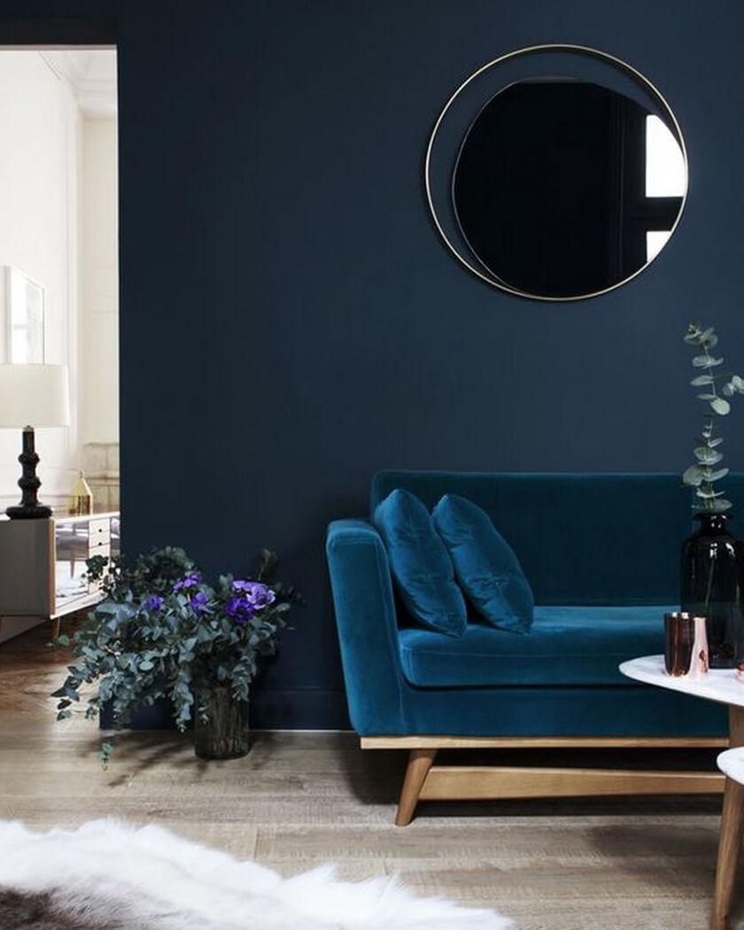 décorer les murs du salon avec un miroir  - Comment décorer le mur du salon ?