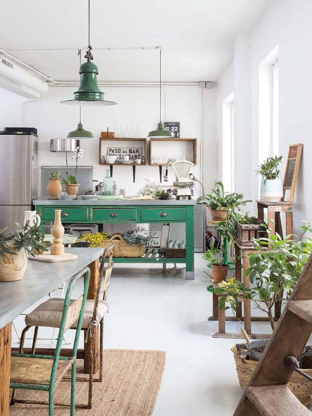 une cuisine ouverte à la déco vintage 1536x2048 - Une déco vintage, mais pas ringarde !