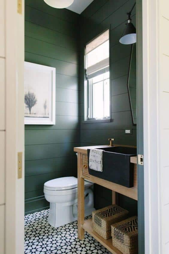 des toilettes décoré avec élégance - Une déco ethnique dans toute la maison