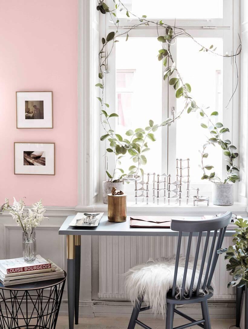 un bureau à la déco couleurs pastel  - 5 façons d'utiliser les couleurs pastel en déco
