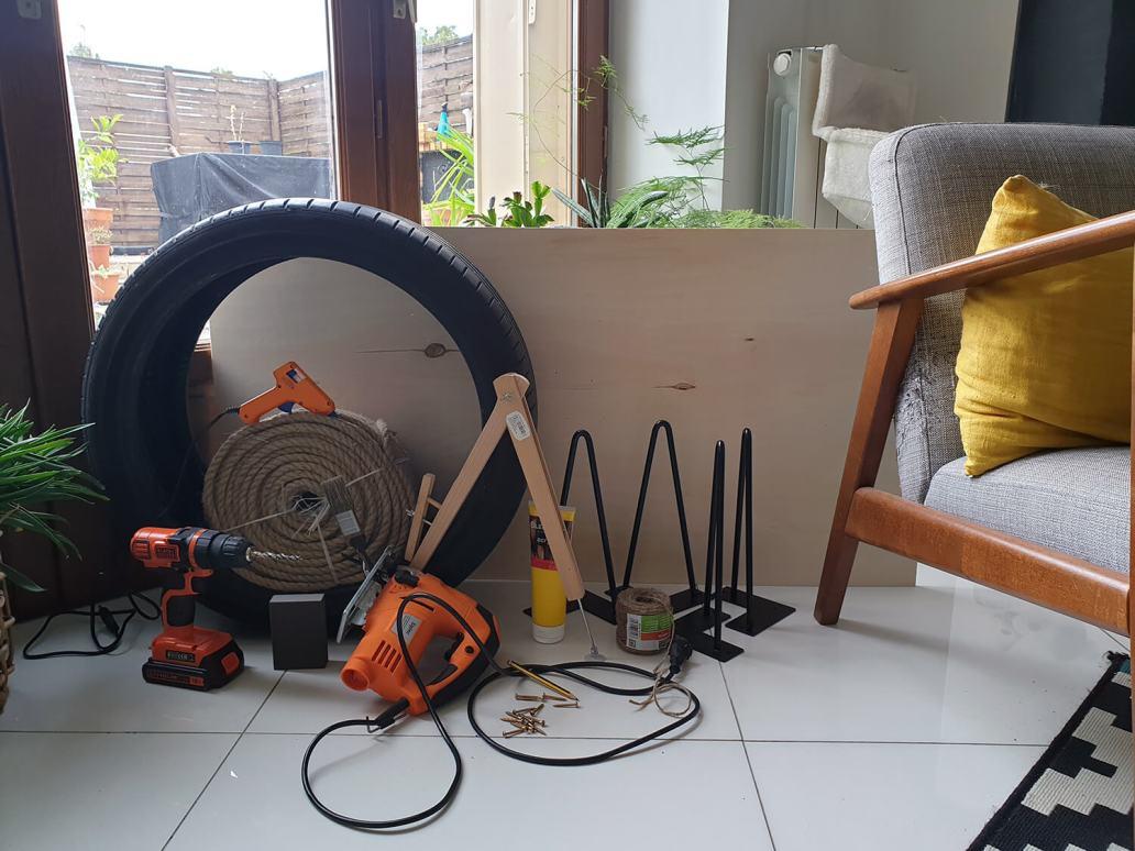 20200929 170330 - DIY Récup : fabriquer une table basse avec un pneu